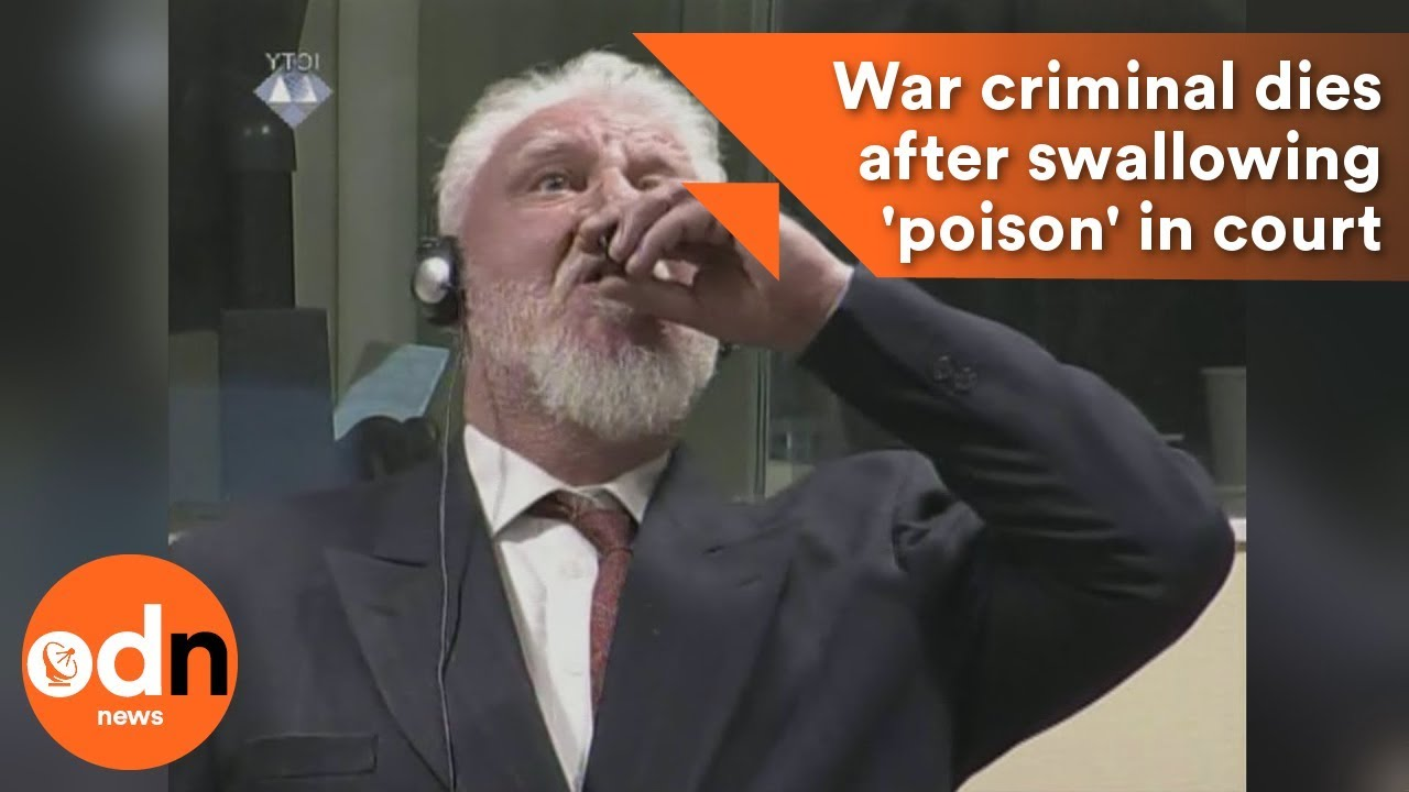War After Swallowing Court >> War Criminal Dies After Swallowing Poison In Court Youtube