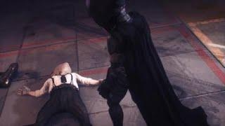 Batman arkham knight rescuing nightwing with big head mode