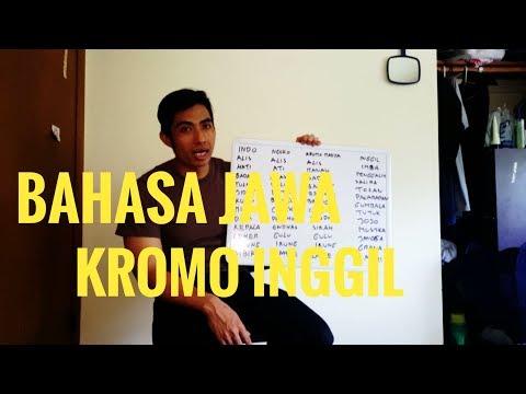 BELAJAR BAHASA JAWA NGOKO SAMPE KROMO INGGIL