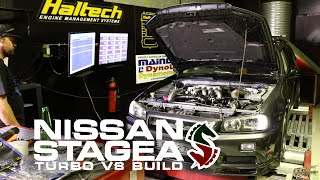We dyno tune the V8 Nissan Stagea and make... For Updates Check out...
