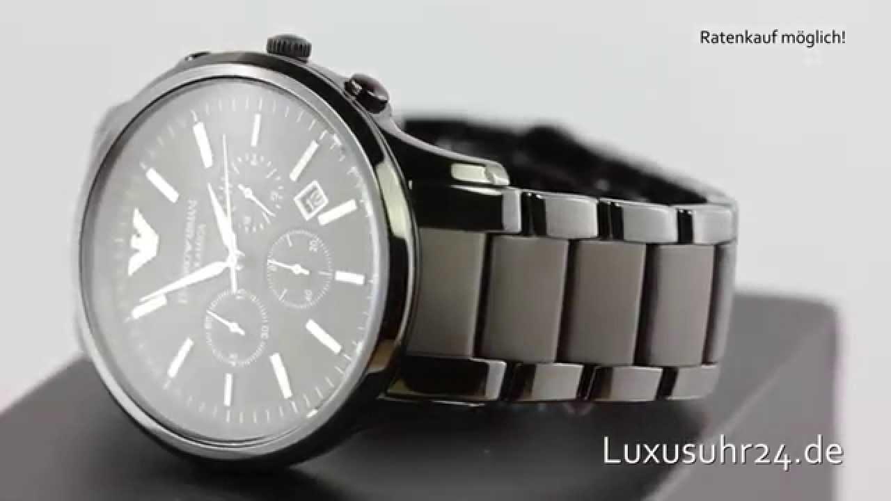 Armani Ceramica Chronograph AR1451 Luxusuhr24 Ratenkauf ab 20 Euro/Monat