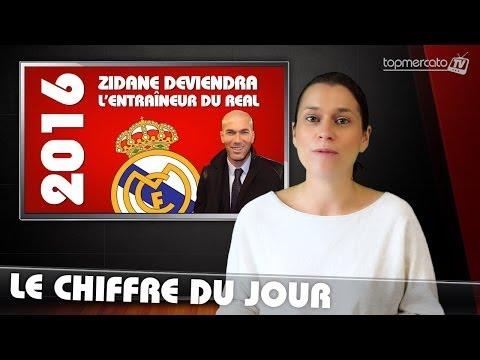 Le chiffre du jour : 2016, l'année où Zidane deviendra l'entraineur du Real Madrid !