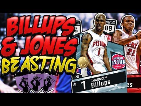 NBA 2K17 MYTEAM DIAMOND CHAUNCEY BILLUPS & RUBY JAMES JONES GAMEPLAY! LIMITLESS RANGE FOR DAYS!