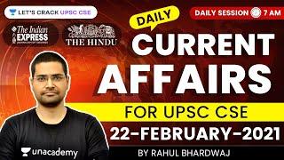 Daily Current Affairs/News Analysis | 22-February-2021 | Crack UPSC CSE 2021 | Rahul Bhardwaj