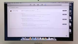 Hướng dẫn update software trên Macbook