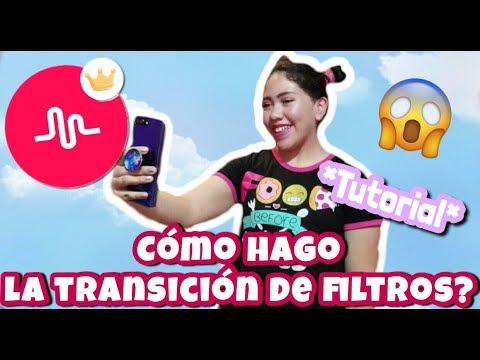 COMO HACER LA TRANSICIÓN DE FILTROS *tutorial de musical.ly*/FER