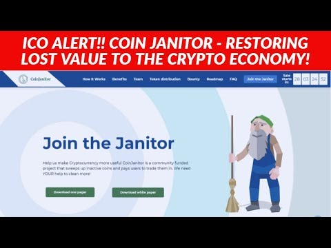 ICO ALERT!! COIN JANITOR REVIEW - RESTORING LOST VALUE TO THE CRYPTO ECONOMY!