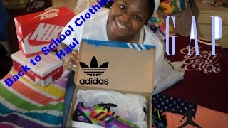 Back To School Clothing + Shoes Haul 2016!!!