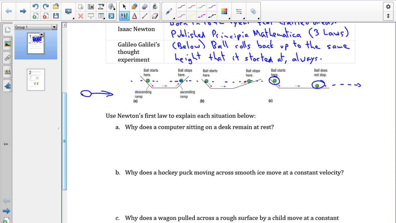 SPH3U 3 2 Newton's first law of motion