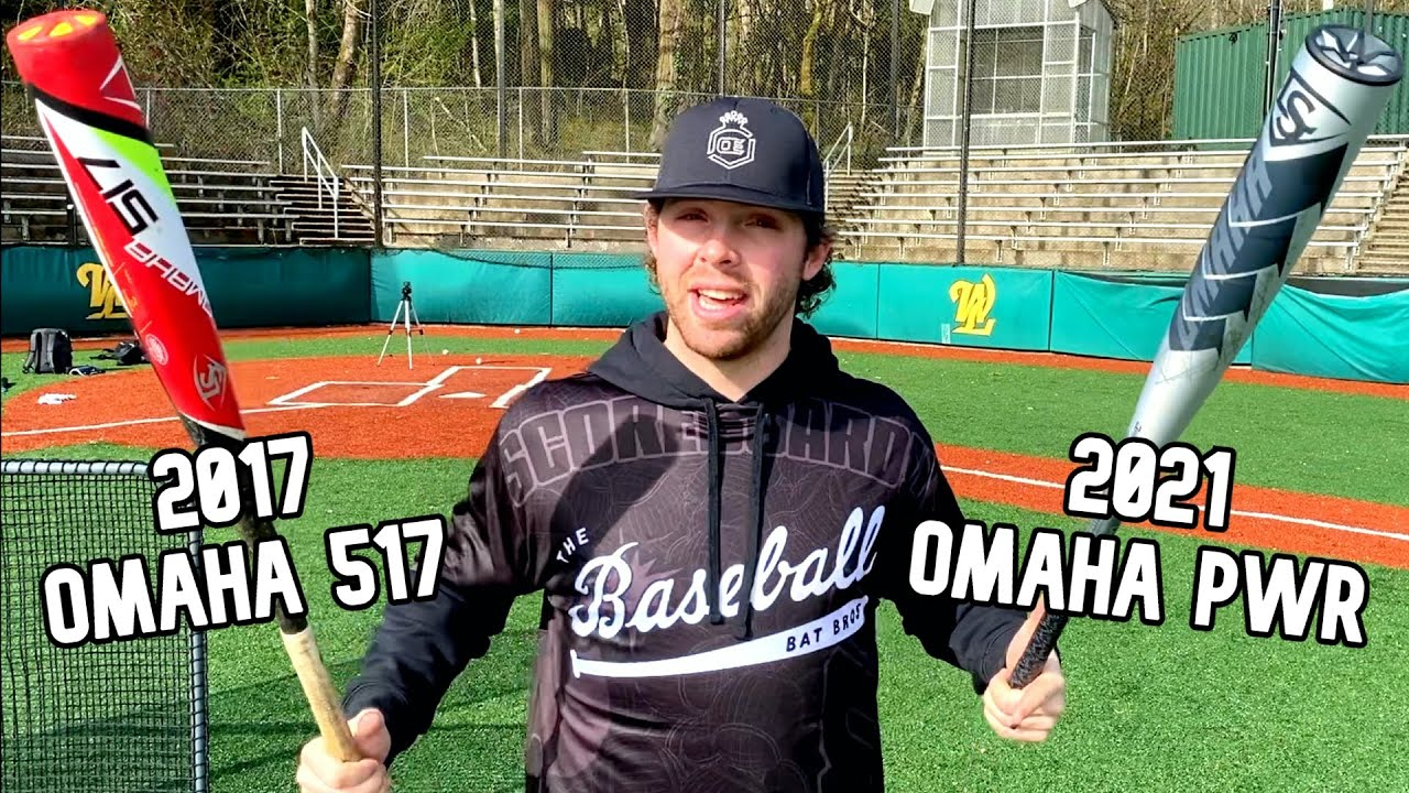 2017 OMAHA 517 vs. 2021 OMAHA | Old vs. New Louisville Slugger BBCOR Baseball Bat Review