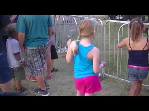 Kyrie Mad getting Caught Dancing Waiting In Line at Stutsman county Fair