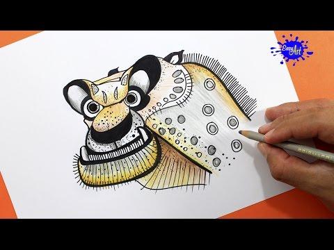 How to drawTai Lung Kung fu panda / Como colorear a Tai Lung kung fu ...