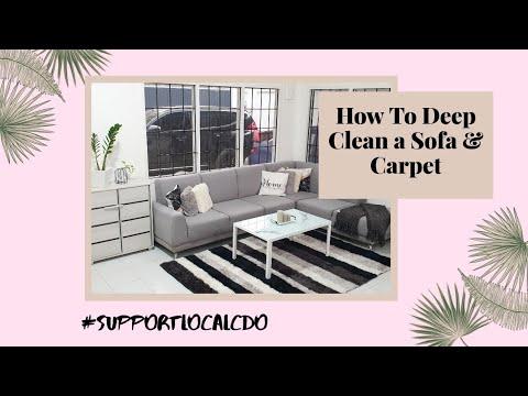 How To Deep Clean A Sofa & Carpet? || Clean Queen CDO