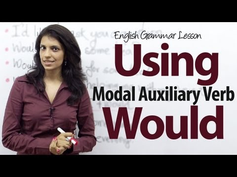 Using The Auxiliary Verb - Would - Free English Grammar Lesson