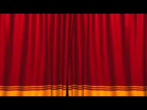 Футажи Красный занавес, красные шторы