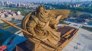 関羽の超巨大像がついに完成したようだ。場所は湖北省荊州市にある関羽...