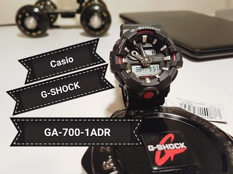 Original Casio G - SHOCK - GA-700-1ADR | Unboxing & In-depth review