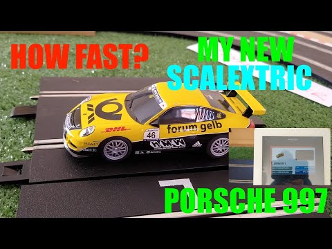 My Scalextric Porsche 997 – How fast is it on my track?