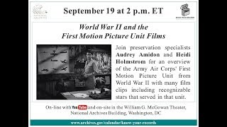 World War II and the First Motion Picture Unit Films (2017 Sept 19) thumbnail