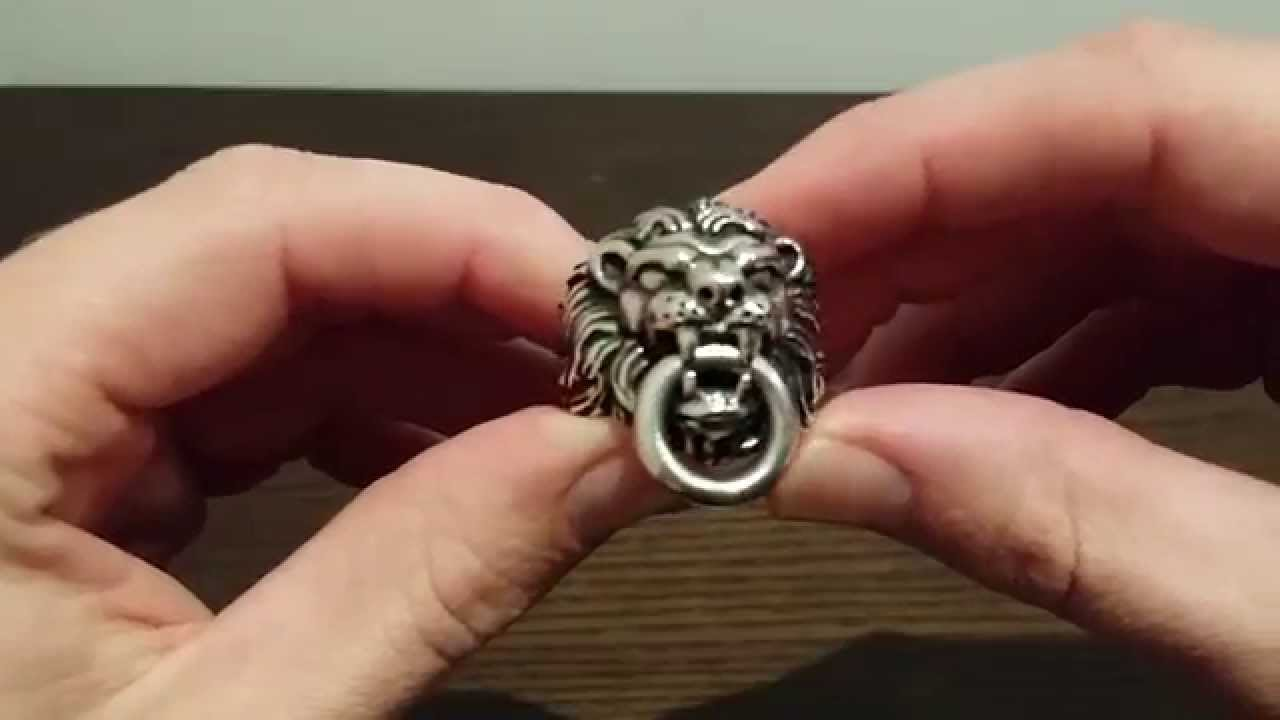 King Baby Studio Lion Head Ring Review  YouTube