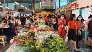 [4K] Amazing Street Food Market (Ratchada) | Lunch Time in Bangkok, Thailand