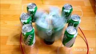 Soda Can Electrostatic motor