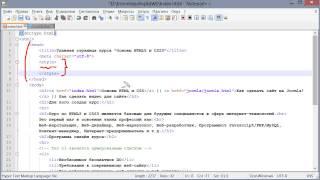 Внутренняя таблица стилей (Основы HTML и CSS)