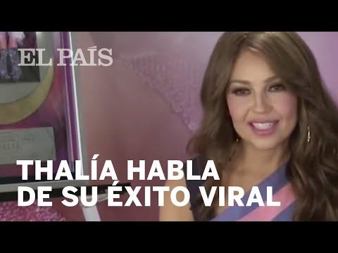 """THALÍA se emociona con el éxito de su viral """"Me oyen, me escuchan"""""""