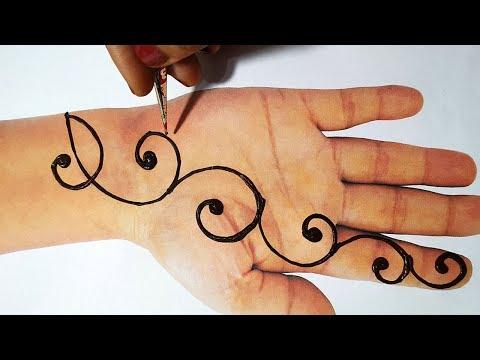 New Mehndi Design Trick - Latest Mehndi Design for Hands 2019 - आसान तरीके से मेहँदी लगाना सीखे