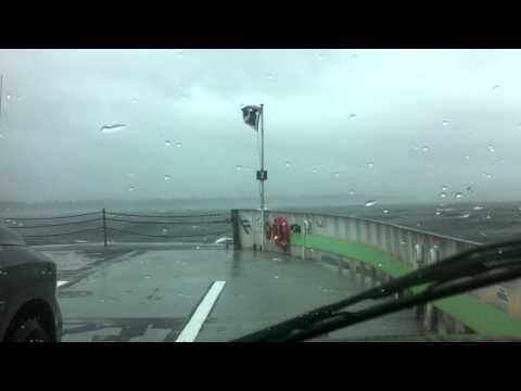 Riding the Lake Champlain Ferry from Grand Isle to Plattsburgh during Tropical Storm Irene