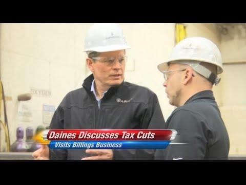 Sen. Steve Daines visits Billings to discuss tax cuts
