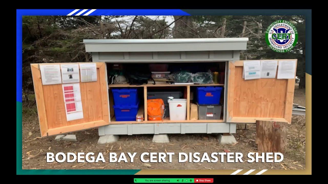 Bodega Bay CERT Nov 16 2020 Meeting Emergency Sheds & Holiday Safety