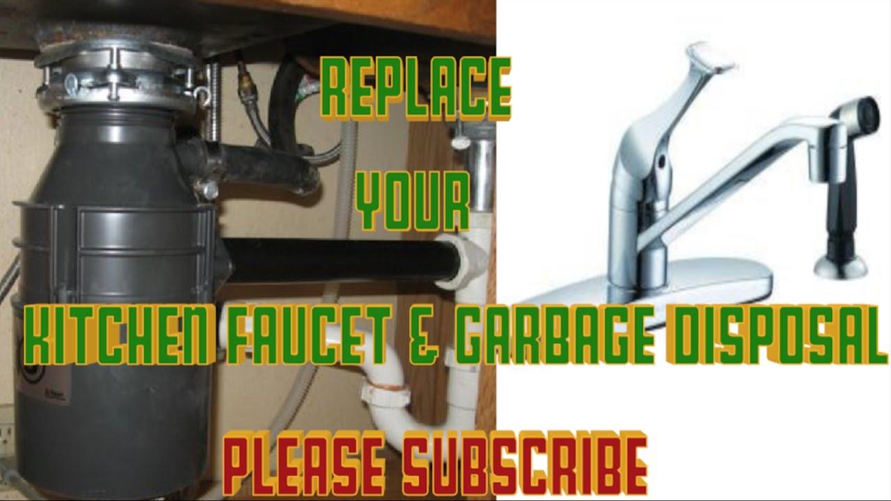 replace kitchen faucet glacier bay u0026 badger garbage disposal