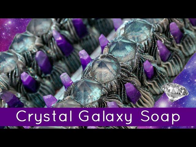 Aurora Dreams - A Galaxy & Crystal Soap | Royalty Soaps