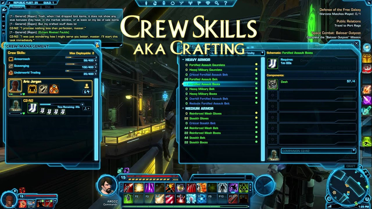 Swtor crew skills гайд