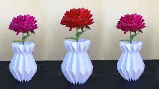Como fazer vaso plissado de papel – Faça você mesmo