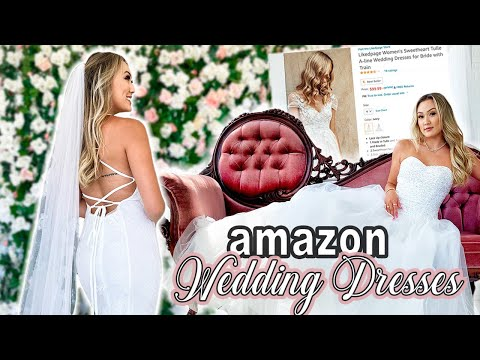 Trying On Wedding Dresses From Amazon