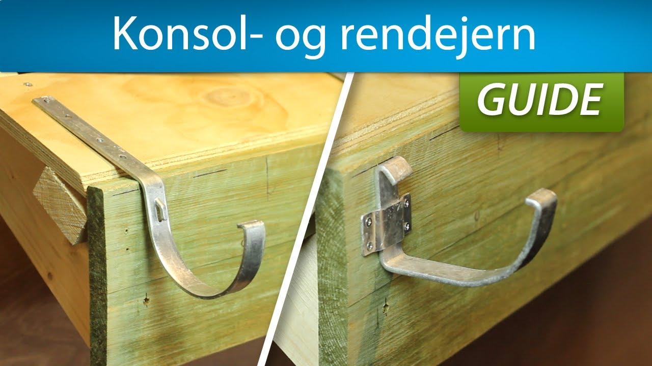 Smart Konsoljern eller rendejern - Sådan monterer du dem! - YouTube TK59