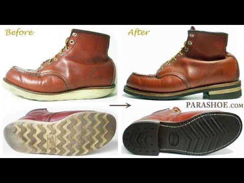 【靴修理①】レッドウィング(RED WING)ブーツ ソール交換修理 ビブラム700+レザーミッドソール カスタムリペア , YouTube