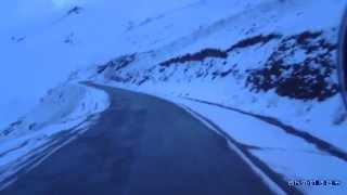 Дальнобойщик ( рейс ГРУЗИЯ - ИРАК ) страшный перевал мегра. Trucker  terrible pass MEGRU
