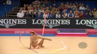 aleksandra soldatova rus 2015 rhythmic worlds stuttgart qualifications ribbon