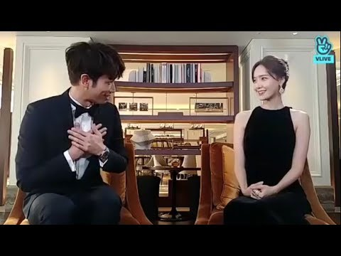 YOONA Cute Moment with JASPER LIU in AAA 2018 ! The Fangirl and The Fanboy  moments ^^