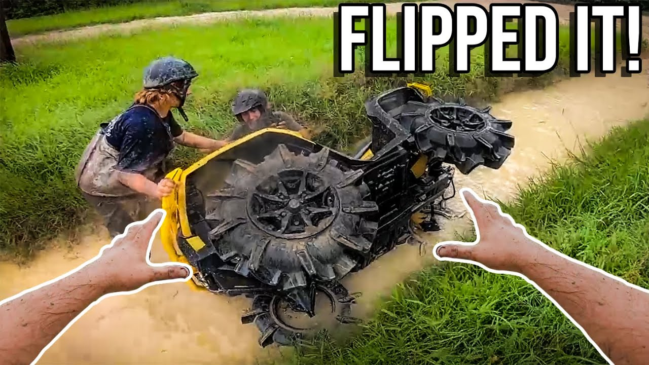 2021 Can-Am Gets DESTROYED Mudding! *Almost CRUSHED*