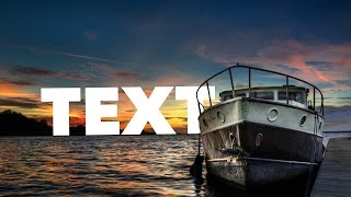 How to Place Text Behind an Object (After Effects CS6)