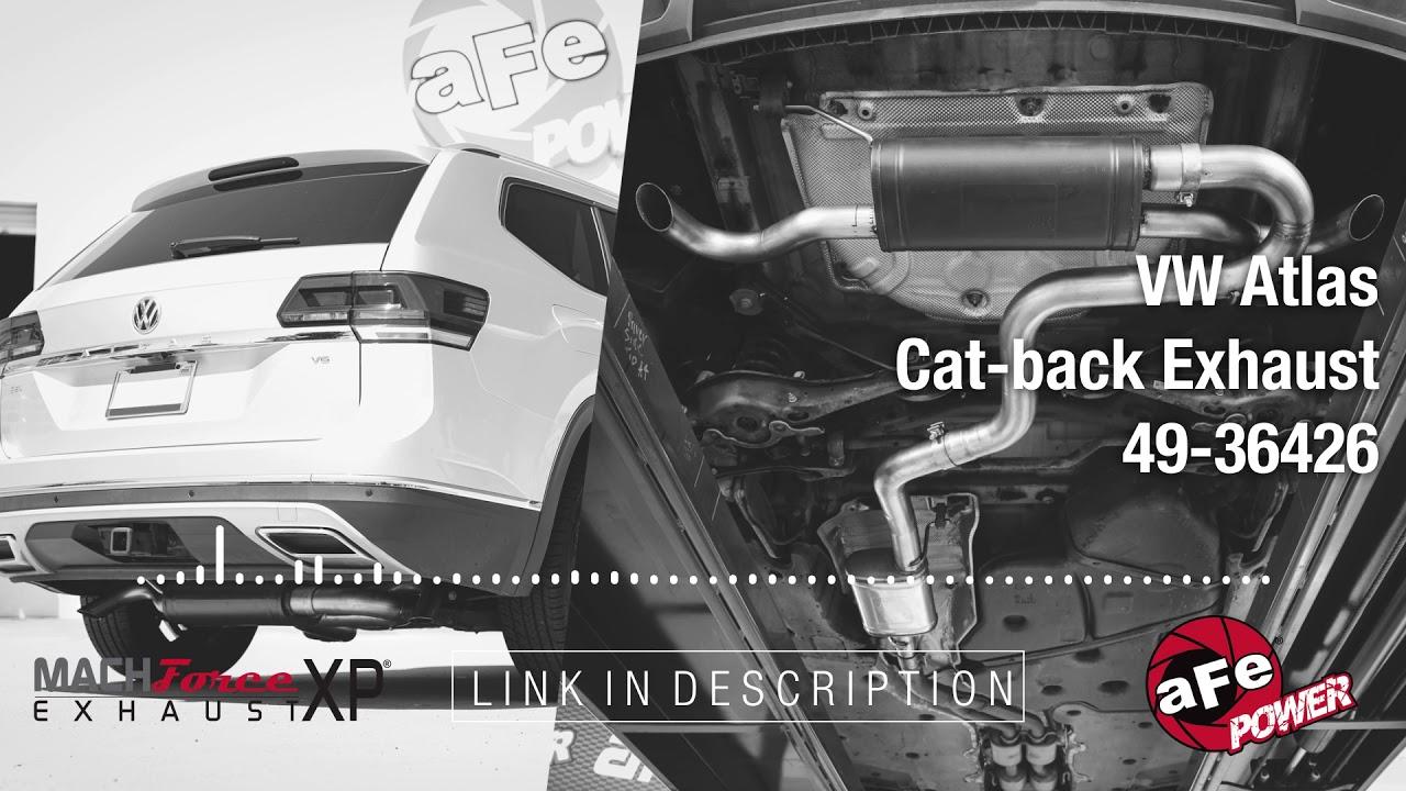 afe power volkswagen atlas mach force xp cat back exhaust system