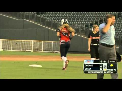 Madison Shipman (USSSA Pride) Doubles Off Monica Abbott (Chicago Bandits)