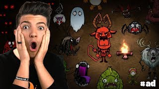 SURVIVING 24 HOURS STRAIGHT CHALLENGE! (Don't Starve Together Wortox)