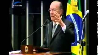 José Sarney (PMDB-AP) discursa durante celebração dos 25 anos da Constituição de 1988