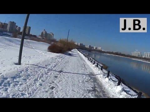 Snow run along MOSCOW river, feb.2016