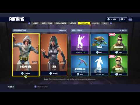 New Daily Item Shop Today New Skins Fortnite Battle Royale